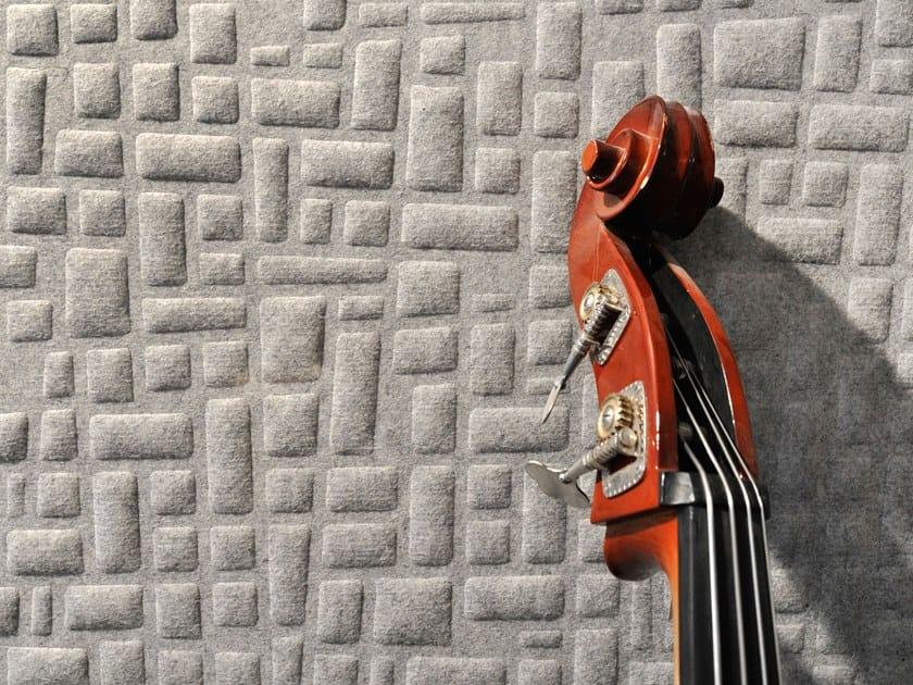 Pannello decorativo acustico in lana di pecora WHISPERWOOL NICKEL by Tante Lotte