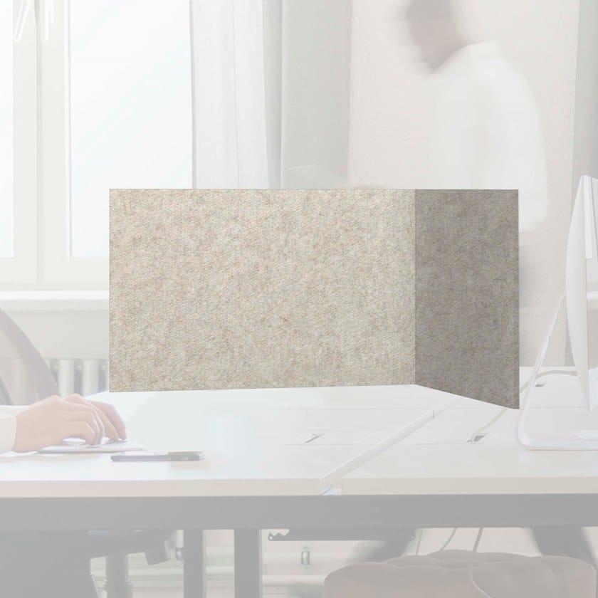 Pannello divisorio da scrivania fonoassorbente in lana WHISPERWOOL OBLONG   Pannello divisorio da scrivania by Tante Lotte