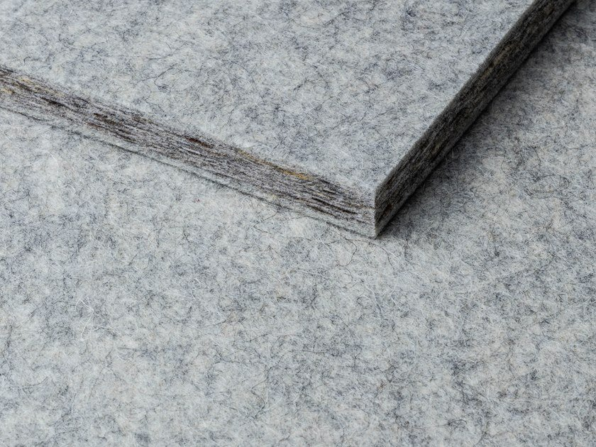Sheep's wool acoustic panel WHISPERWOOL SILVER GREY by Tante Lotte