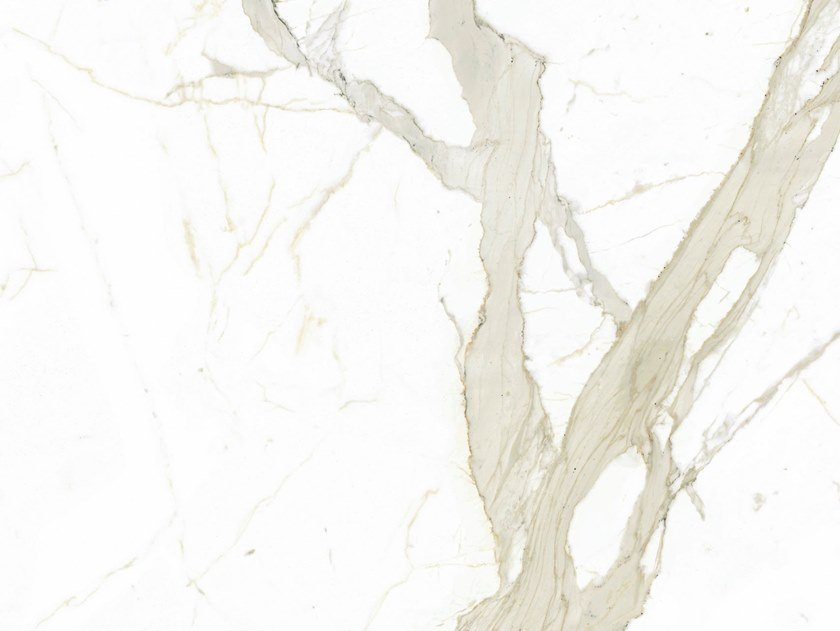 Indoor/outdoor technical ceramic wall/floor tiles with marble effect WHITE CALACATTA by FMG