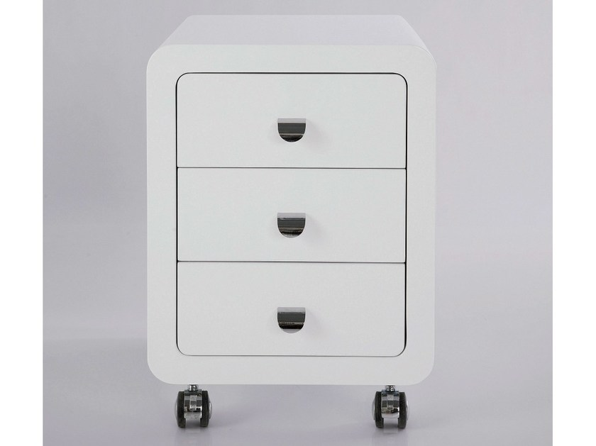 MDF office drawer unit with casters WHITE CLUB | Office drawer unit by KARE-DESIGN