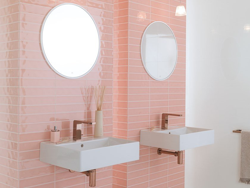 Wall Cladding WHITE & COLORS - MALAGA ROSE by Porcelanosa