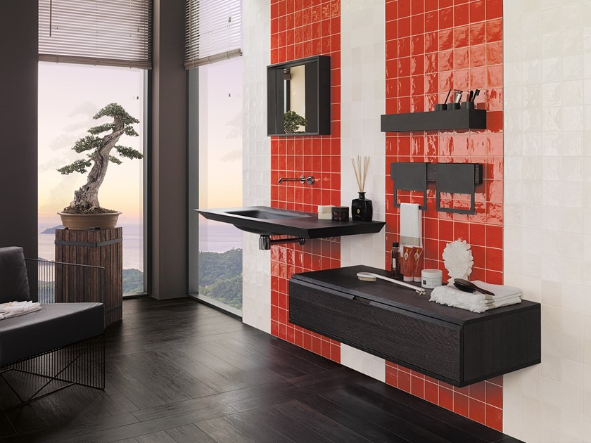 Wall Cladding WHITE & COLORS - RONDA RED by Porcelanosa