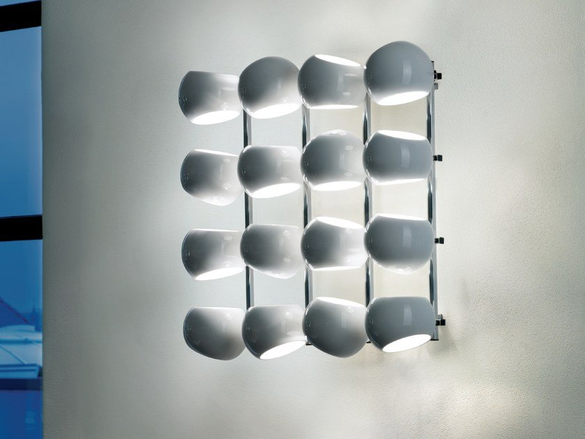 LED porcelain wall lamp WHITE MOONS 4 X 4 | Wall lamp by LICHT IM RAUM
