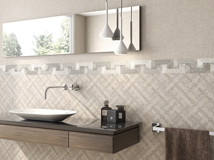 White-paste wall tiles with textile effect HABANA | White-paste wall tiles by ITT Ceramic