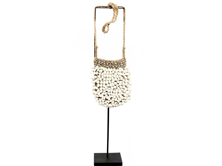 Metal decorative object WHITE PURSE by Bazar Bizar