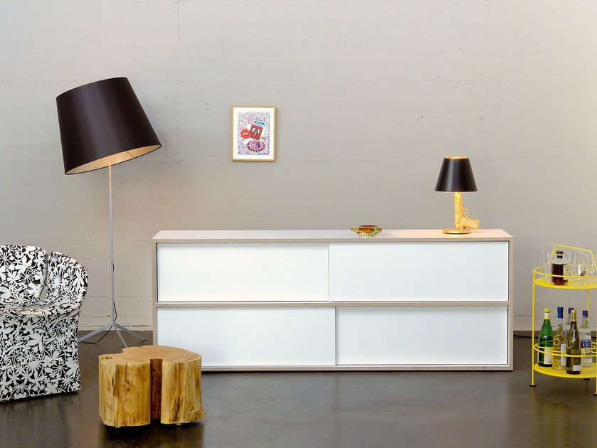 Sideboard with sliding doors WHITE STORE   Sideboard with sliding doors by Morgen