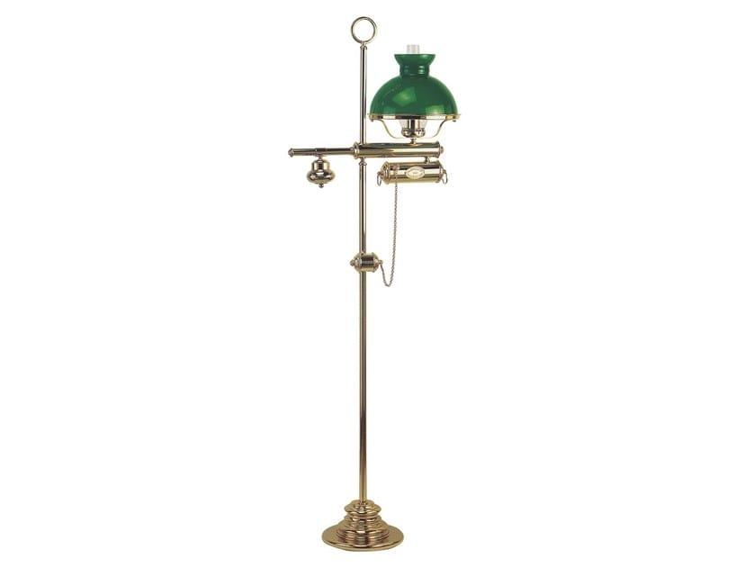 Height-adjustable brass floor lamp WICHITA 123/3006 | Brass floor lamp by Caroti