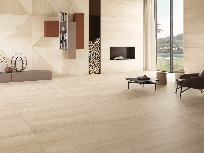 Porcelain stoneware wall/floor tiles with stone effect WIDE GRES by Ceramiche Coem