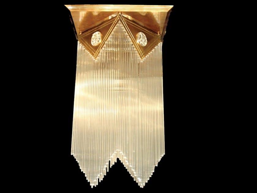 Direct light handmade brass ceiling lamp WIENER III | Ceiling lamp by Patinas Lighting