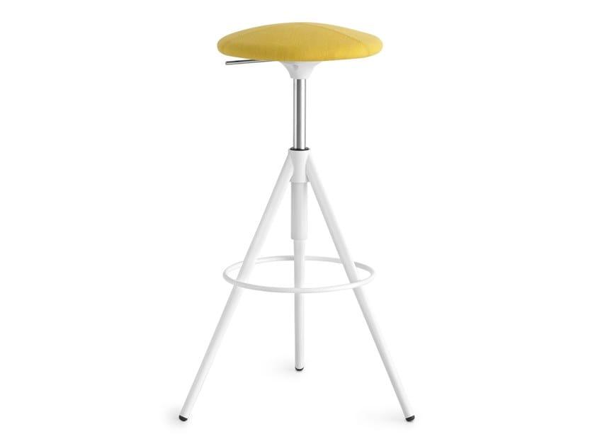 Swivel upholstered height-adjustable stool WIL | Height-adjustable stool by Lapalma