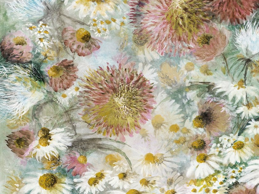 Ecological washable PVC free wallpaper WILD FLOWERS by Wallpepper