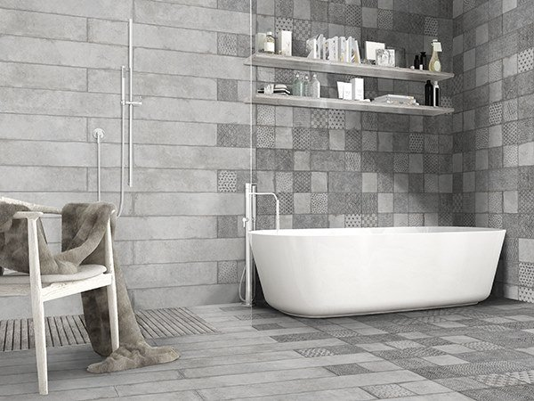 Porcelain wall/floor tiles with concrete effect WILD by ITT Ceramic