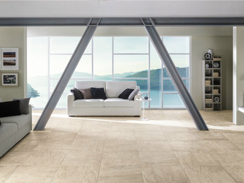 Porcelain stoneware flooring with stone effect WILD LION by La Fabbrica