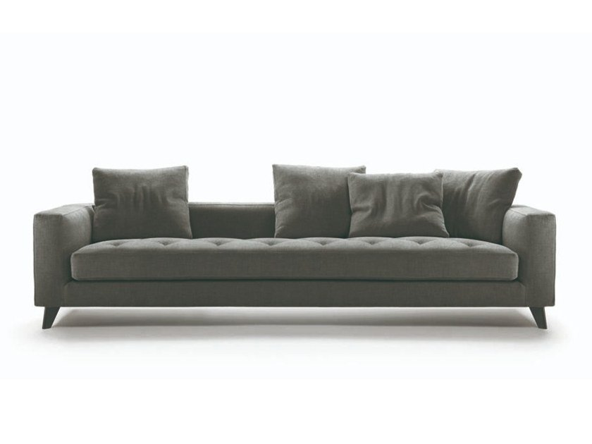 3 seater fabric sofa with removable cover WILLY by Marac