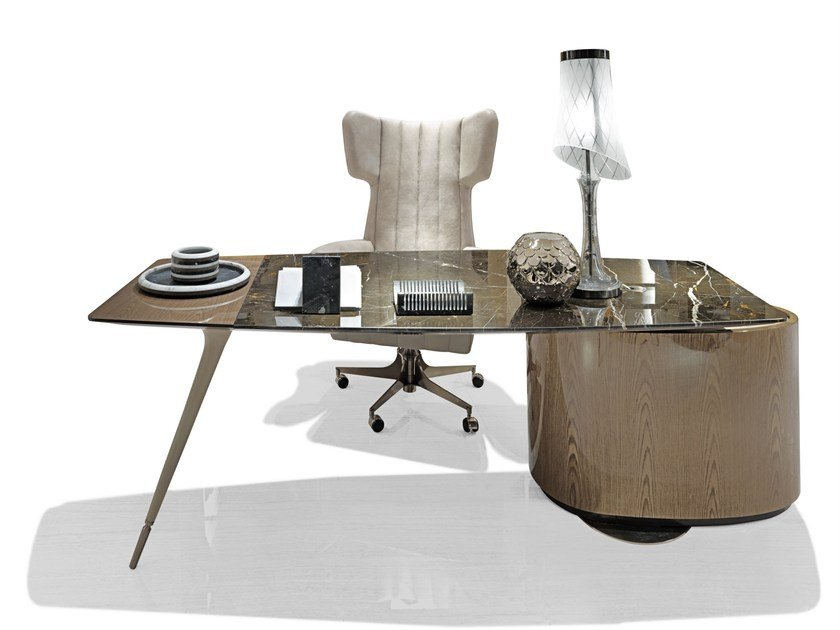 Marble writing desk with drawers WILSHIRE by Visionnaire
