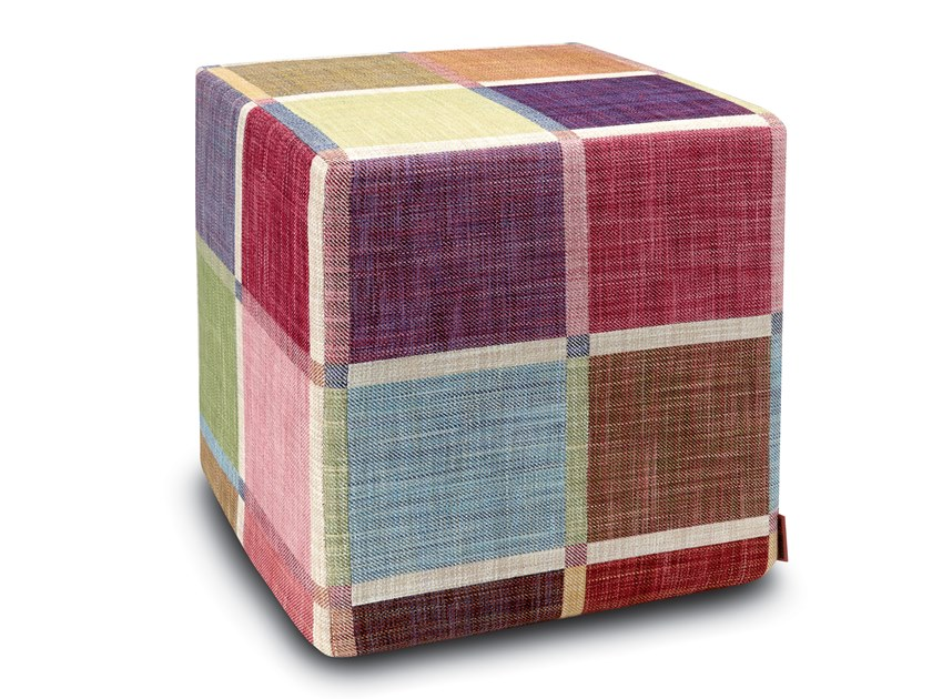 Cube pouf in jacquard fabric WINCHESTER | Pouf by MissoniHome