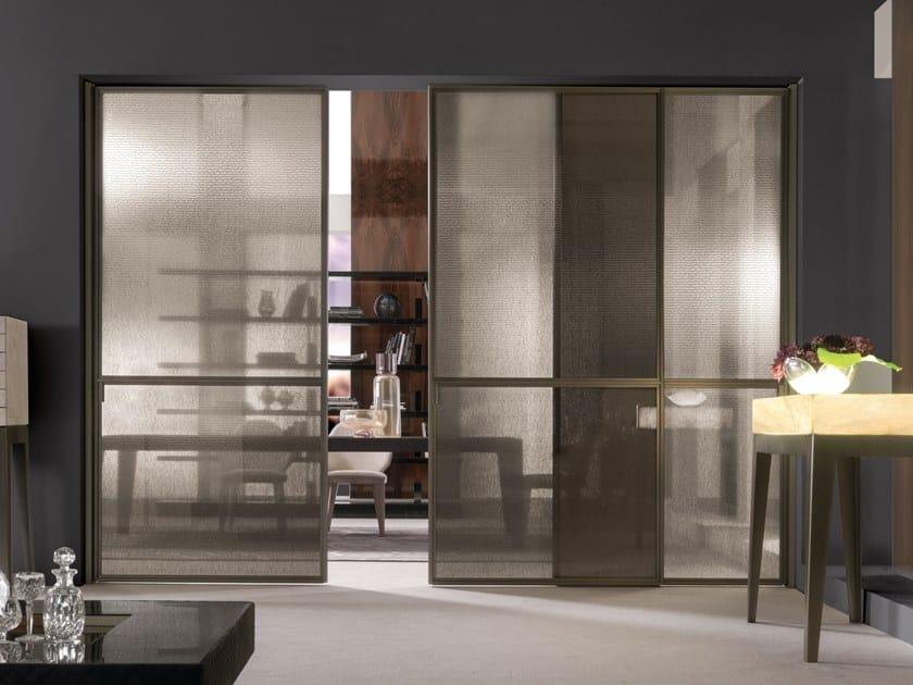 Fabric glass sliding door WIND | Sliding door by Longhi