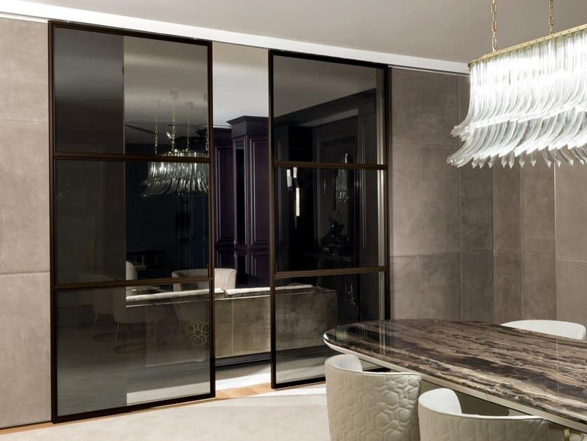 Glass sliding door WIND | Glass door by Longhi
