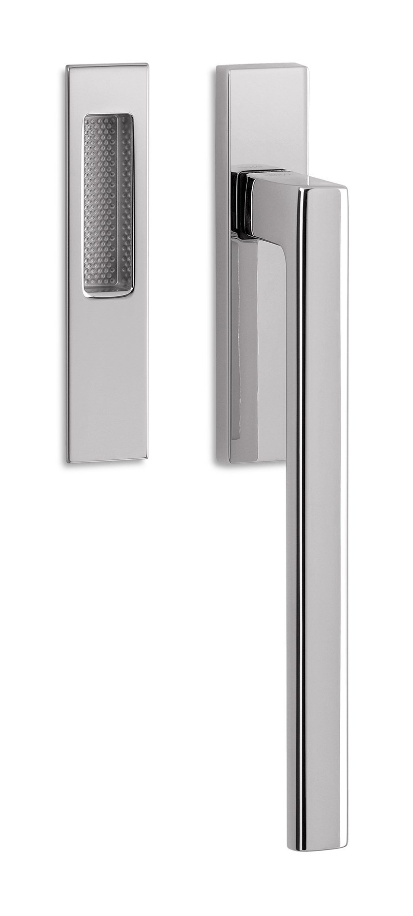 DK window handle on back plate UNIT | Window handle by Ento