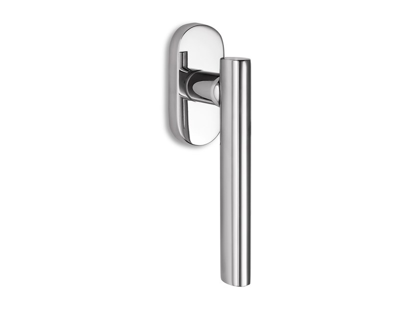 Contemporary style DK metal window handle on rose SMART | Window handle by Ento