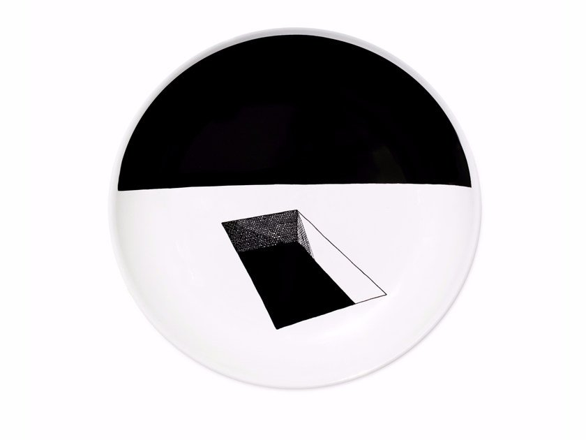 Ceramic dinner plate WINDOW by Kiasmo