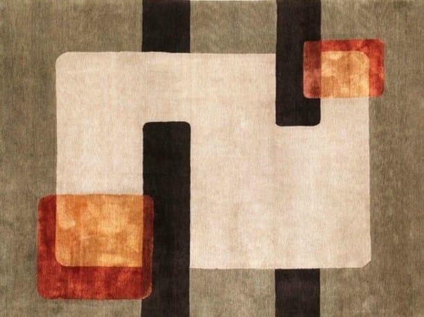 Handmade rectangular rug WINDOWS by Deirdre Dyson