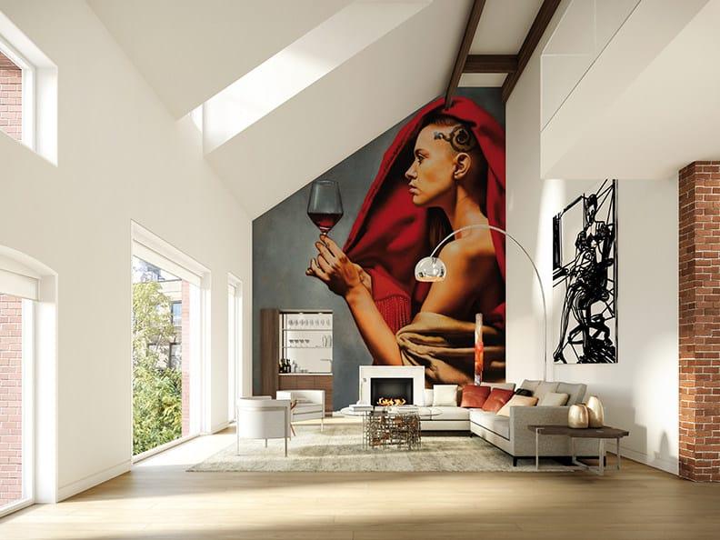 Panoramic wallpaper WINE TASTING by Inkiostro Bianco