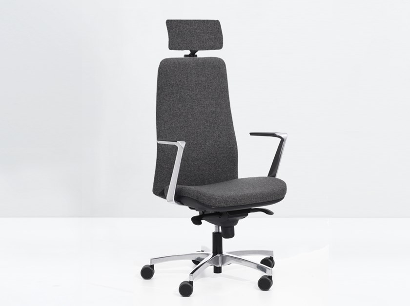 Height-adjustable task chair with armrests WING 990 RXY by delaoliva