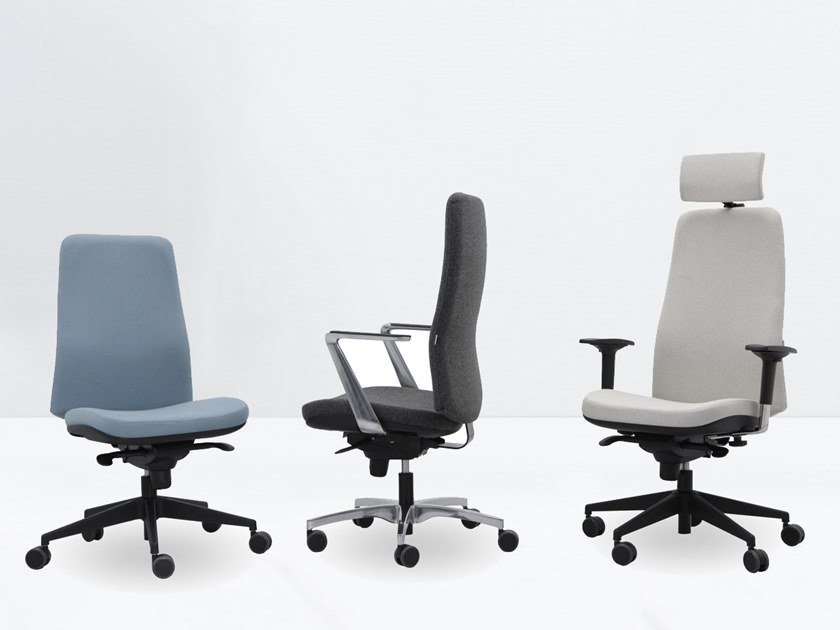 Height-adjustable task chair with 5-Spoke base WING 9900 RAY by delaoliva
