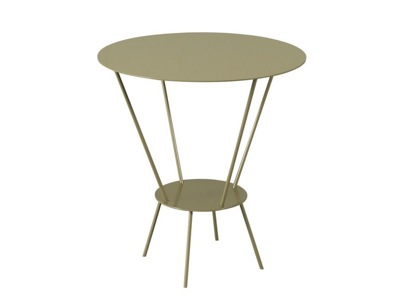 Lacquered steel side table WING by AZEA