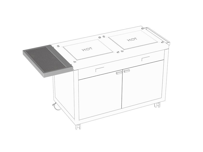 Removable Preparation table Wing extension by La tavola