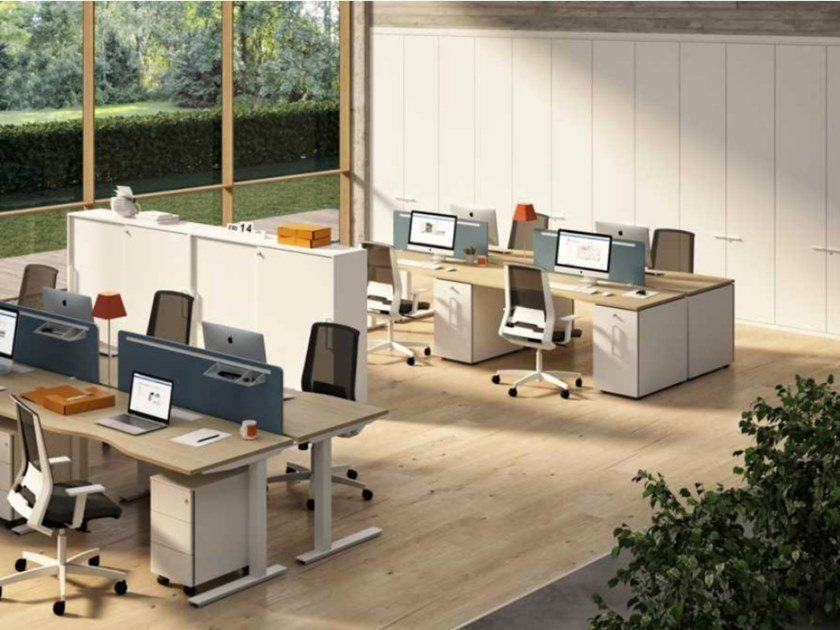 Tall melamine-faced chipboard office storage unit with hinged doors WINGLET   Office storage unit by Bralco