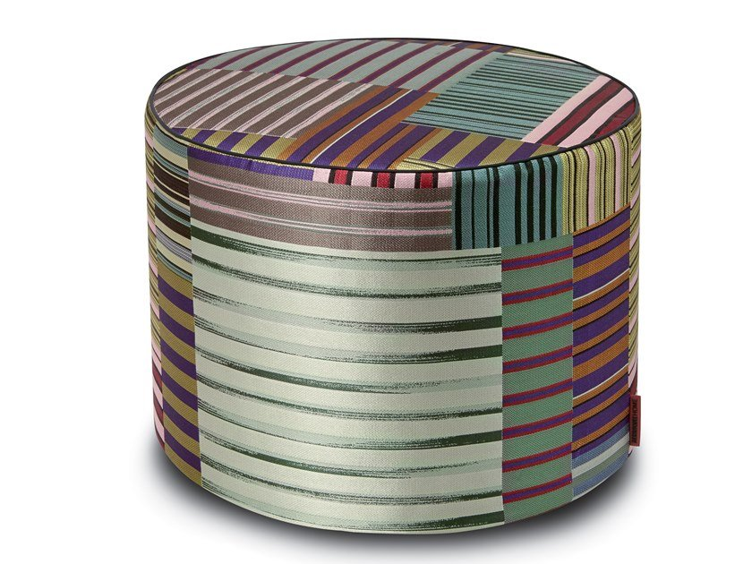 Cylinder pouf in jacquard fabric WINSLOW | Pouf by MissoniHome