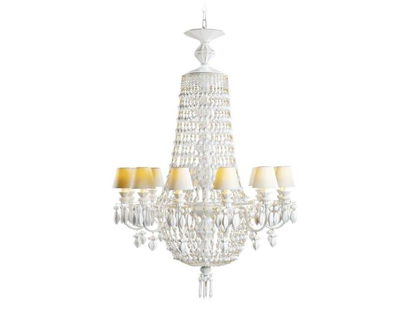 Porcelain chandelier WINTER PALACE 12 by Lladró