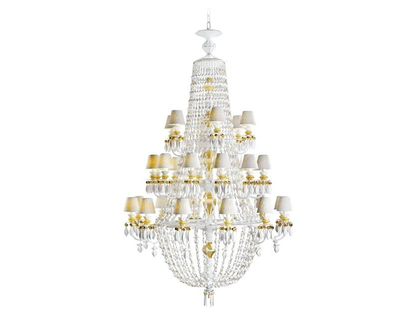 Porcelain chandelier WINTER PALACE 30 GOLDEN LUSTER by Lladró