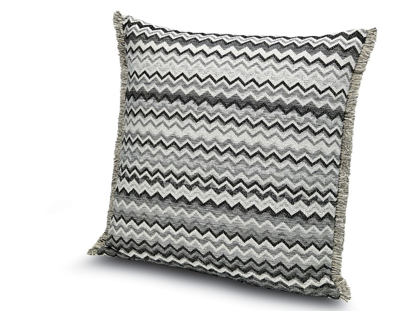Cushion in black and white jacquard fabric WIPPTAL by MissoniHome