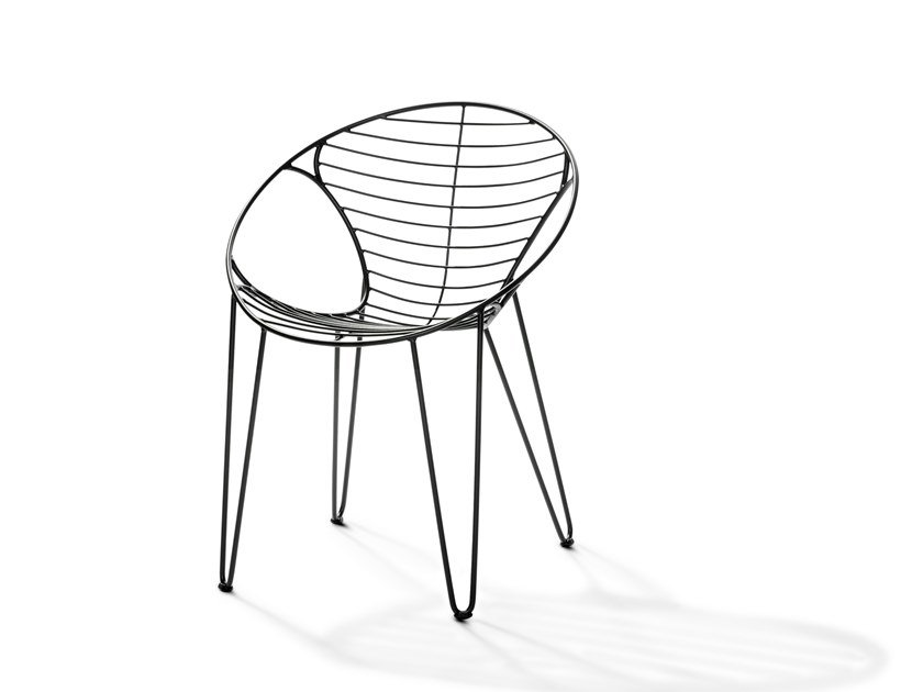 Stackable stainless steel chair WIRE | Chair by Joli
