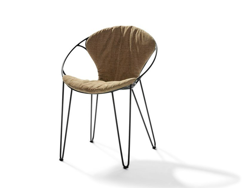 Upholstered stackable fabric chair WIRE | Fabric chair by Joli