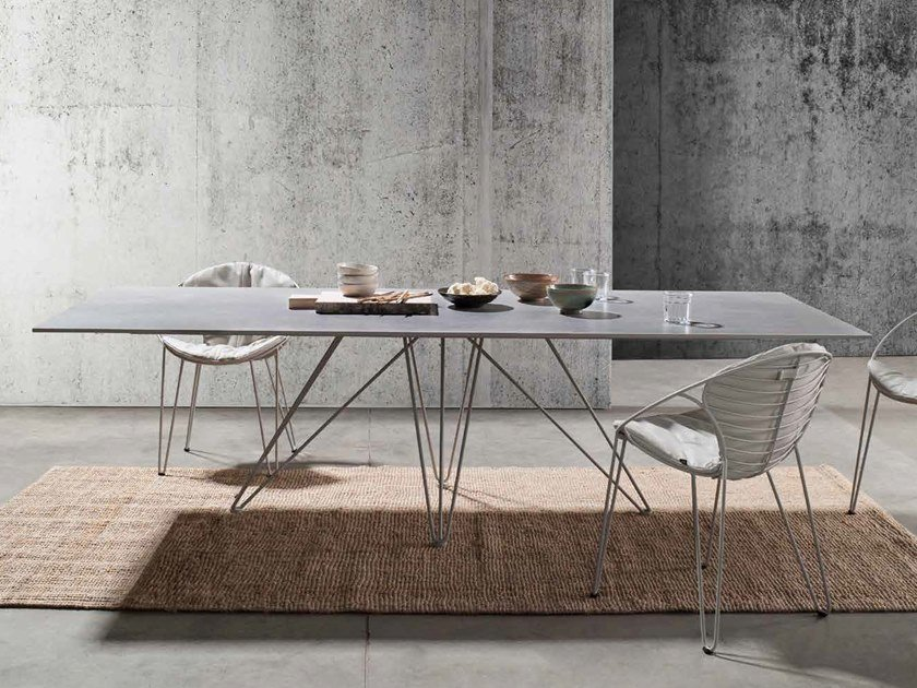 Rectangular Xeramica table WIRE | Rectangular table by Joli