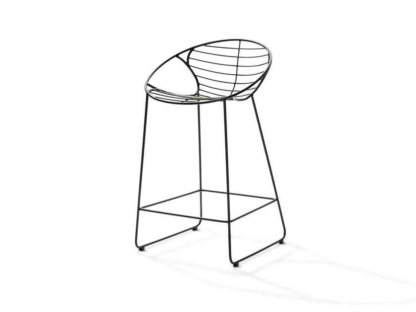 Stainless steel stool WIRE | Stool by Joli