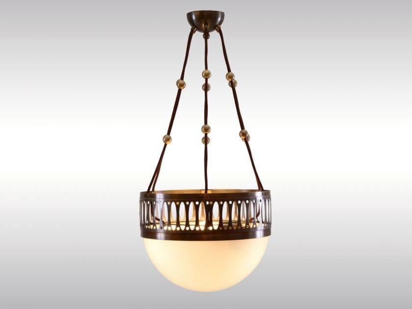 Metal pendant lamp WIREBALL-35 by Woka Lamps Vienna