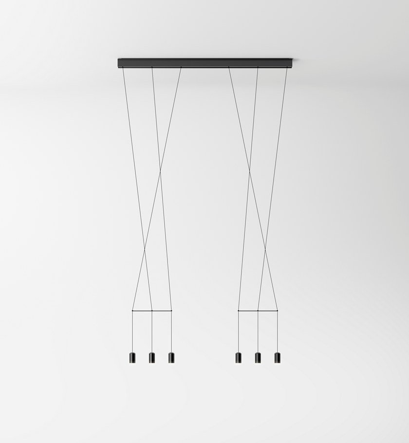 LED pendant lamp WIREFLOW LINEAL 0338 by Vibia