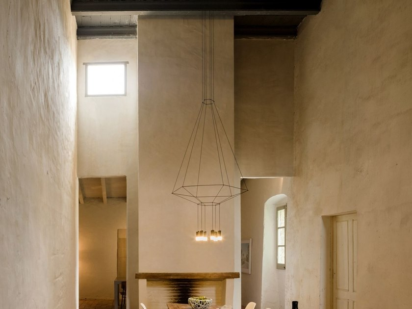 LED pendant lamp WIREFLOW 6 by Vibia