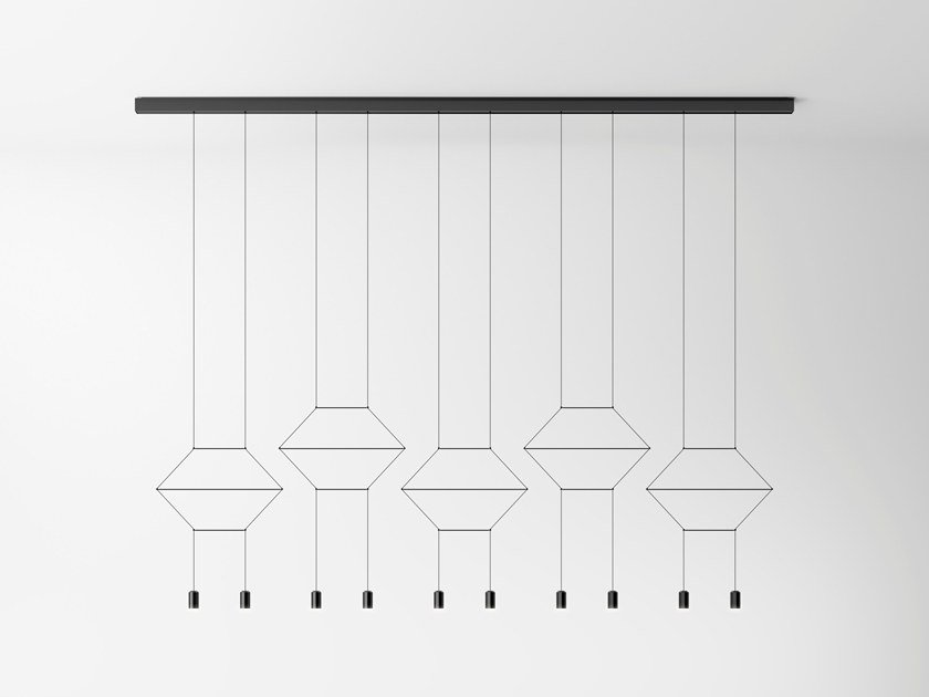 Lampada a sospensione a LED WIREFLOW LINEAL by Vibia
