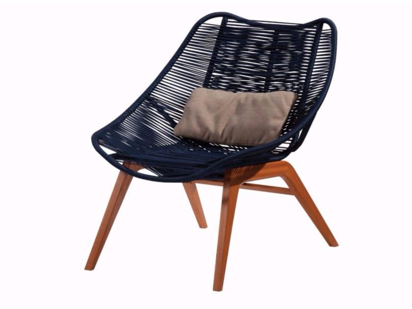 Cord garden armchair WISHBONE OUTDOOR by ROCHE BOBOIS