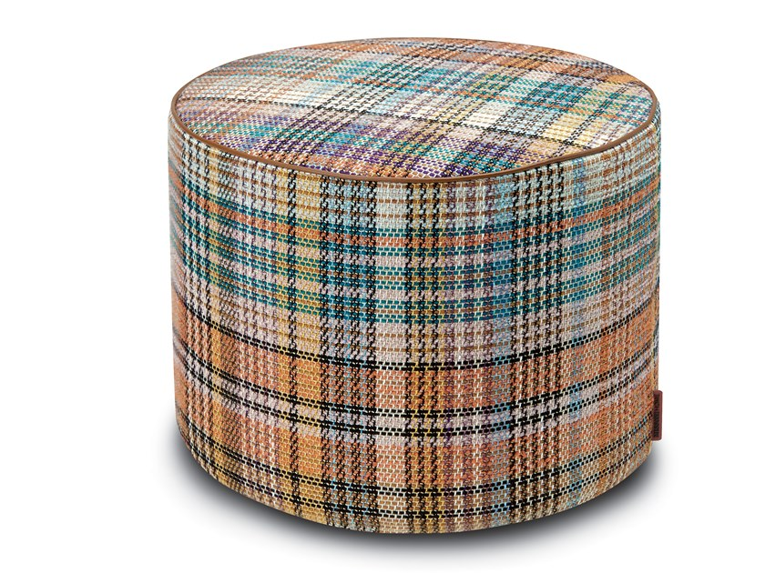 Cylinder pouf in jacquard fabric WISMAR | Pouf by MissoniHome