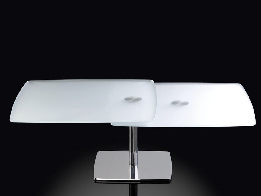 Extending Rectangular Crystal Coffee Table Wolf By Naos