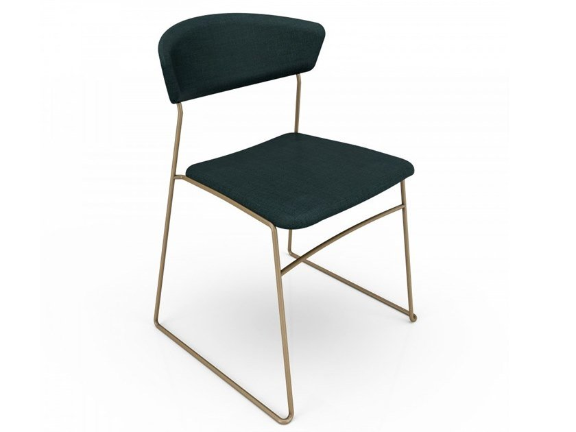 Lacquered steel chair WOLFGANG   Metal chair by Huppé