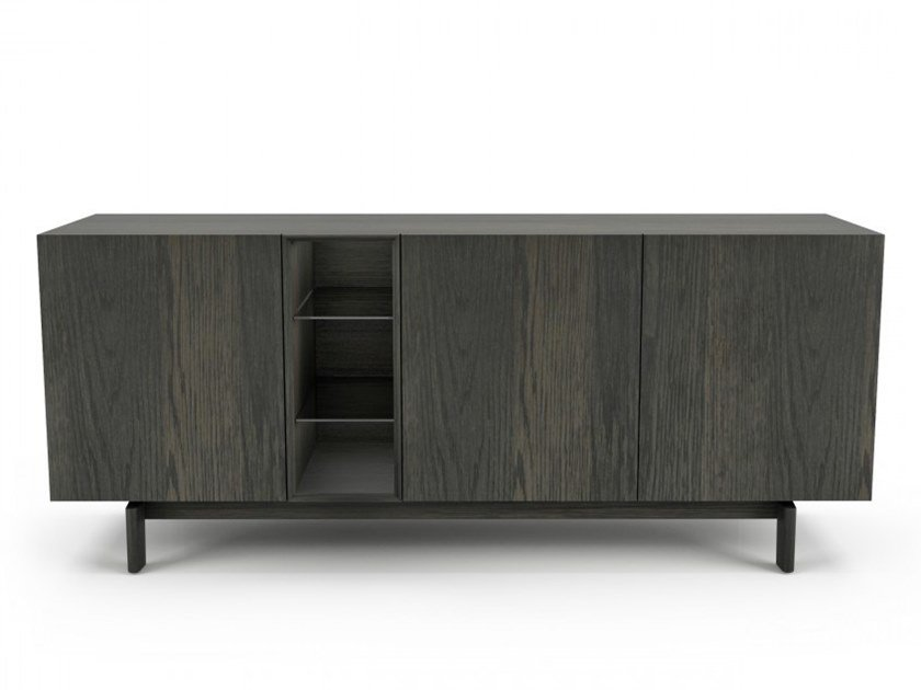 Oak sideboard with doors WOLFGANG | Sideboard by Huppé